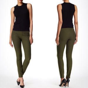 Theory Adalwen Stretch Woven Pants Dark Green